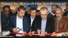Milletvekili Ağbal Gençlik Kolları Seçim Bürosunu açtı