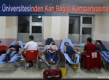 Bayburt Üniversitesinden Kan Bağışı Kampanyasına Destek