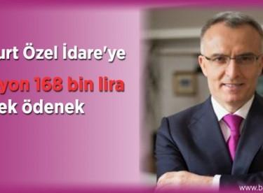Bayburt Özel İdare'ye 6 milyon 168 bin lira ek ödenek