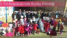 75. Yıl Anaokulu'nda Kızılay Etkinliği