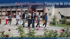 Bayburt Üniversitesi, Türkiye'de İlk 20'de