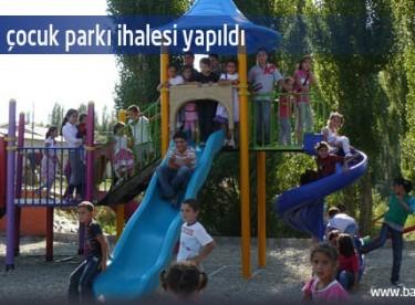 34 köye çocuk parkı ihalesi yapıldı