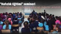 """""""Hafızlık Eğitimi"""" semineri"""