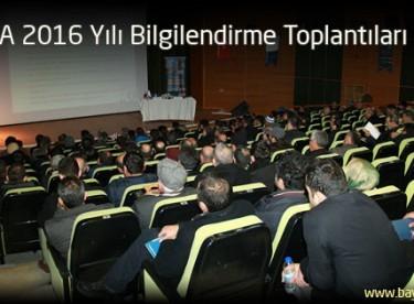 KUDAKA 2016 Yılı Bilgilendirme Toplantıları Başladı