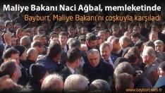 Bayburt, Maliye Bakanı'nı coşkuyla karşıladı