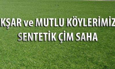 Akşar ve Mutlu Köylerine sentetik çim futbol sahası