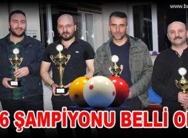 2016 Bayburt Üçbant Bilardo Turnuvası İl Birinciliği