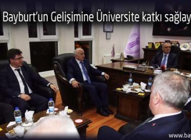 Ağbal, Bayburt'un Gelişimine Üniversite katkı sağlayacak