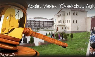 Bayburt Üniversitesinde Adalet Meslek Yüksekokulu Açılıyor