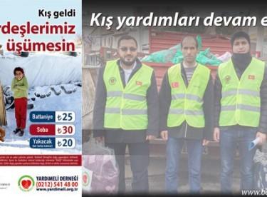 MÜS-DER Kış yardımları devam ediyor