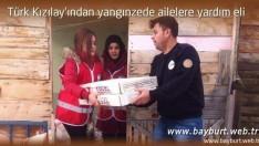 Türk Kızılay'ından yangınzede ailelere yardım eli