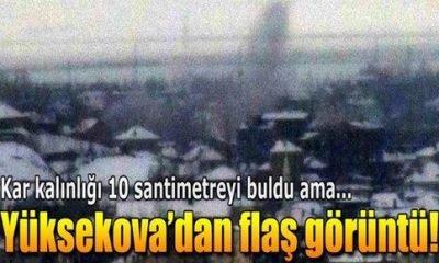 Yüksekova'da kar yağışı altında top atışı