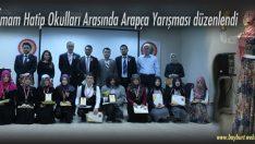 İmam Hatip Okulları Arası düzenlenen Arapça Yarışması