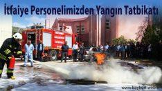 İtfaiye Personelinden Yangın Tatbikatı