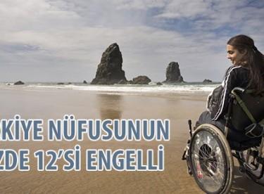 Türkiye nüfusunun yüzde 12'si engelli