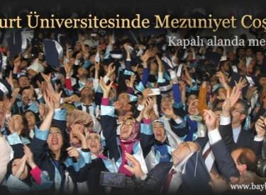 Bayburt Üniversitesinde Mezuniyet Coşkusu