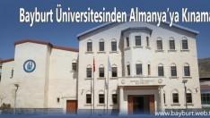 Bayburt Üniversitesinden Almanya'ya Kınama
