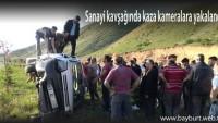 Sanayi kavşağında kaza kameralara yakalandı