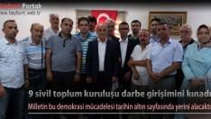9 sivil toplum kuruluşu darbe girişimini kınadı