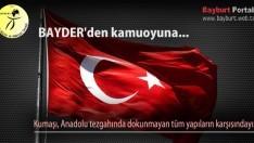 BAYDER'den kamuoyuna