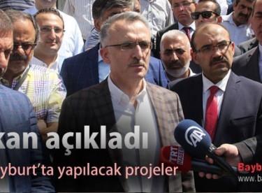 Bakan açıkladı, işte Bayburt'ta yapılacak projeler