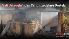 Vali Ustaoğlu'ndan Yangınzedelere Destek