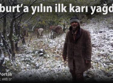 Bayburt'a yılın ilk karı düştü