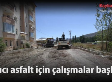 Kalıcı asfalt için çalışmalar başladı