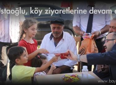 Vali Ustaoğlu, köy ziyaretlerine devam ediyor
