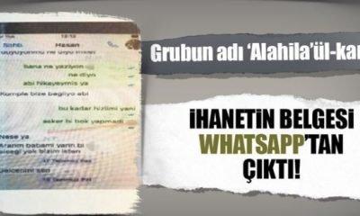 İhanetin belgesi WhatsApp'tan çıktı