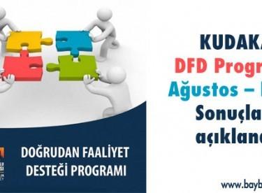 DFD Programı Ağustos – Ekim Sonuçları açıklandı