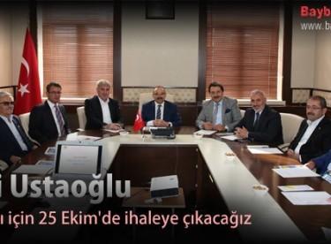 Vali Ustaoğlu, Altyapı için 25 Ekim'de ihaleye çıkacağız