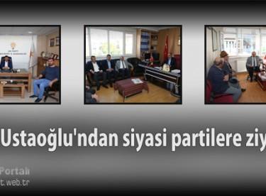 Vali Ustaoğlu'ndan siyasi partilere ziyaret