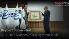 Bayburt Üniversitesi Akademik Yılı açılış töreni yapıldı