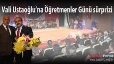 Vali Ustaoğlu'na Öğretmenler Günü sürprizi