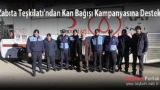 Zabıta Teşkilatı'ndan Kan Bağışı kampanyasına destek