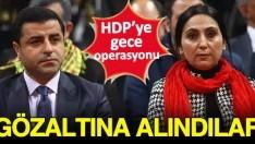 Selahattin Demirtaş ve Figen Yüksekdağ ile 4 HDP'li vekil tutuklandı