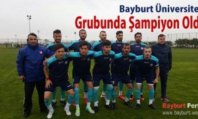 Bayburt Üniversitesi, grubunda şampiyon oldu