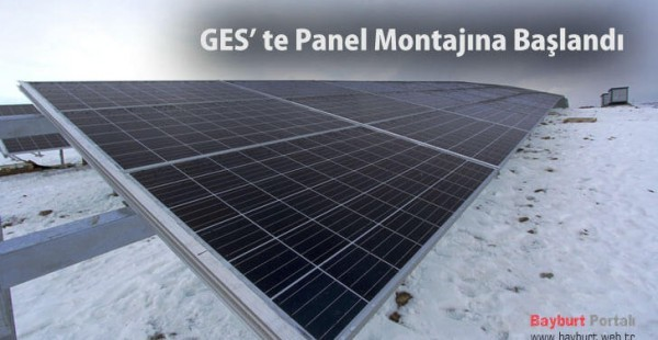 GES' te Panel Montajına Başlandı