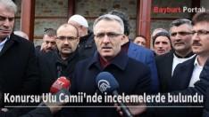 Bakan Ağbal, Konursu Ulu Camii'nde incelemelerde bulundu