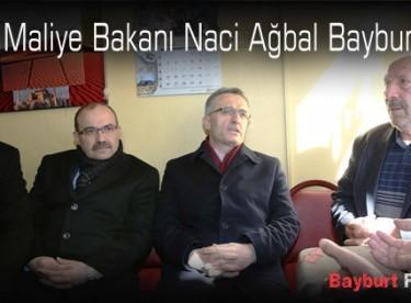 Maliye Bakanı Naci Ağbal Bayburt'ta