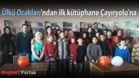 Ülkü Ocakları'ndan ilk kütüphane Çayıryolu'na