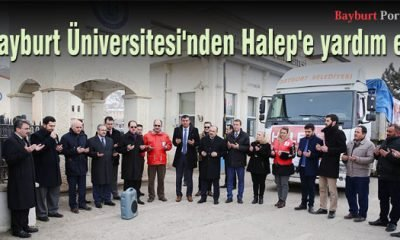 Bayburt Üniversitesi'nden Halep'e yardım eli