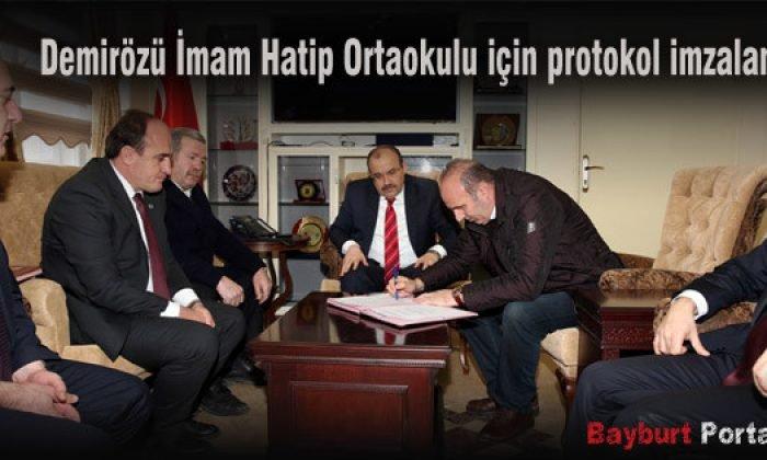 Demirözü İmam Hatip Ortaokulu için protokol imzalandı