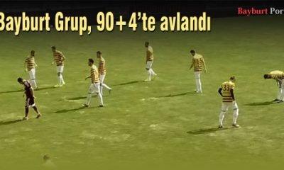 Bayburt Grup, 90+4'te puansız kaldı