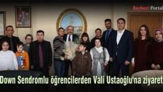 Down Sendromlu öğrenciler, Vali Ustaoğlu'nu ziyaret etti
