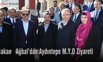 Bakan Ağbal'dan Aydıntepe M.Y.O Ziyareti