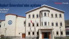 Bayburt Üniversitesi'nden açıklama