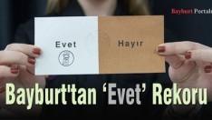 Bayburt'tan 'Evet' Rekoru