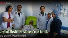Bayburt Devlet Hastanesi'nde bir ilk